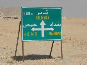 Syrie verkeersbord