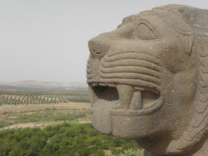 Syrie stenen leeuw