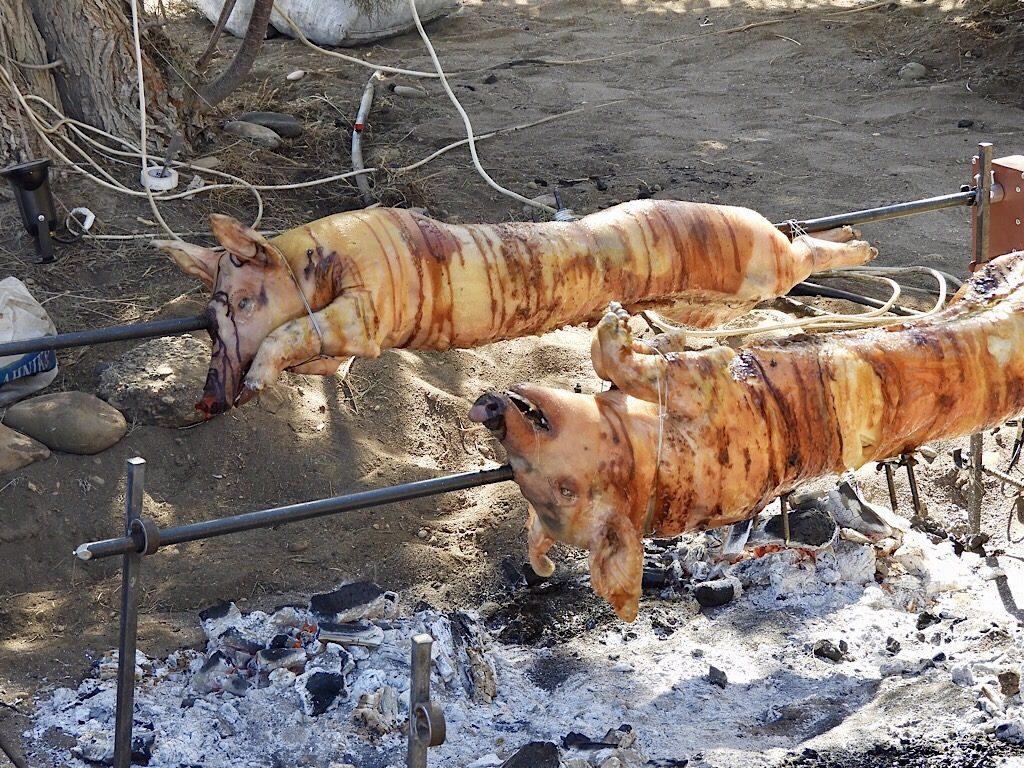 Varken van de grill op Rhodos