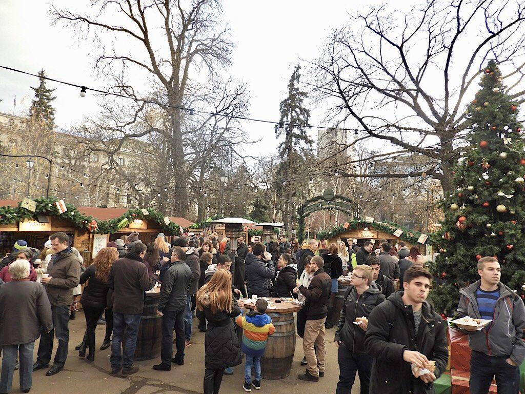 Kerstmarkt in Sofia